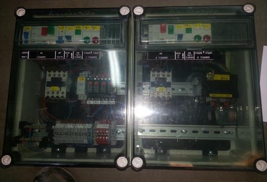 לוח חשמל לבקרה על המשאבות